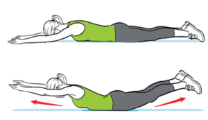 Shoulder Exercise for  Swimmers - Superman
